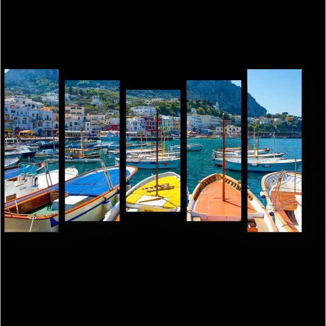 Модульная картина Лодка для туристов