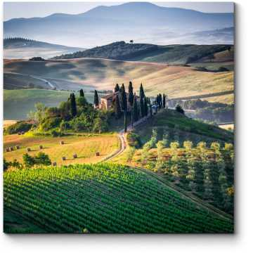 Модульная картина Тоскана, панорамный пейзаж