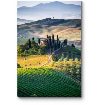 Тоскана, панорамный пейзаж