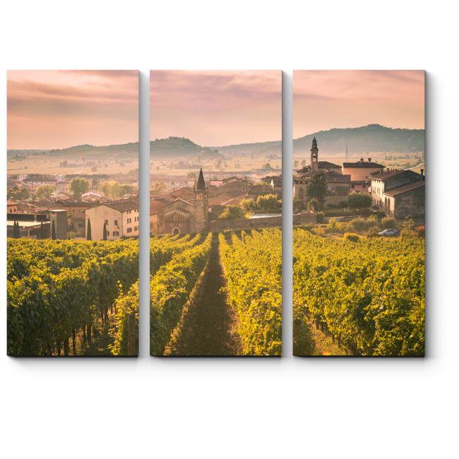 Модульная картина Вид на Соаве (Италия)