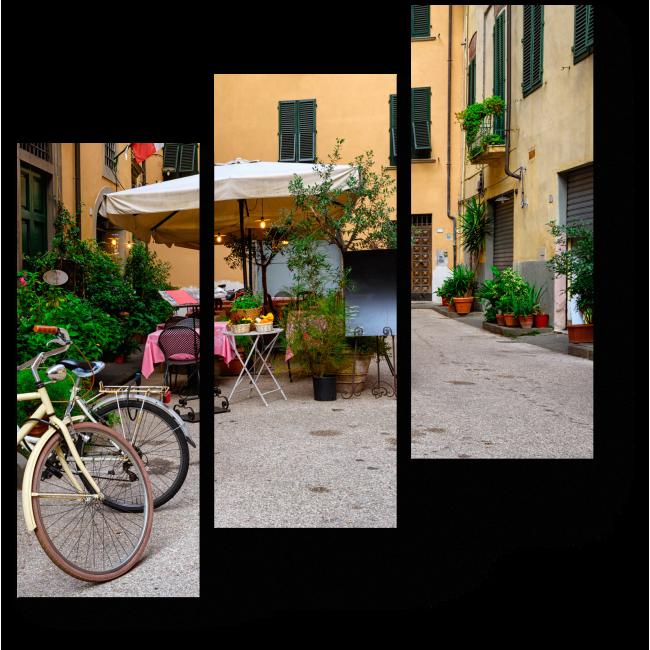 Модульная картина Старые уютные улицы в Лукке