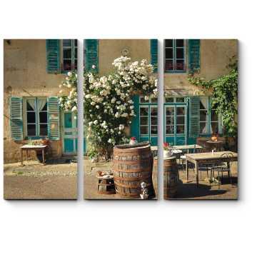 Модульная картина Старый французский дом
