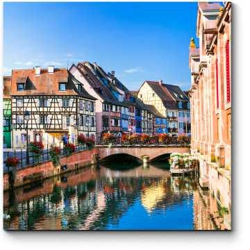 Красивый вид на город Кольмар, Франция