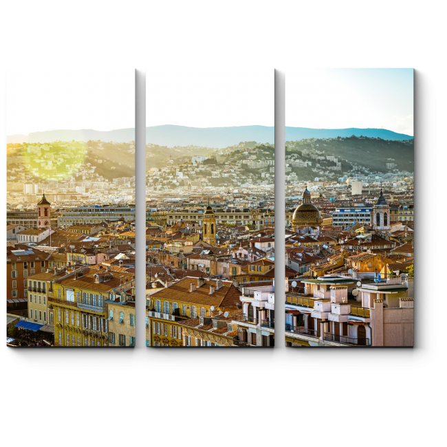 Модульная картина Панорама, Ницца, Франция