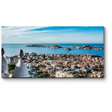 Красивый вид на город Марсель
