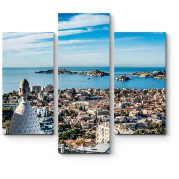 Модульная картина Красивый вид на город Марсель