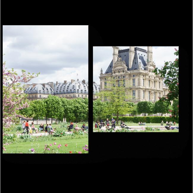 Модульная картина Луврский дворец