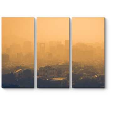 В мелкой пыли