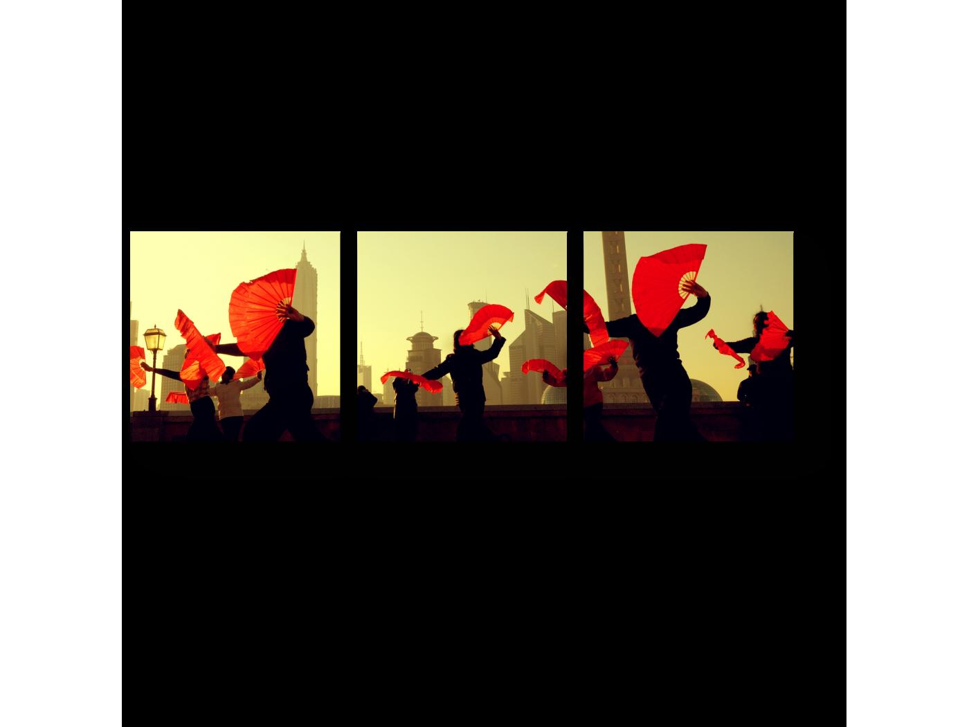 Модульная картина Китайская культура танца (60x20) фото