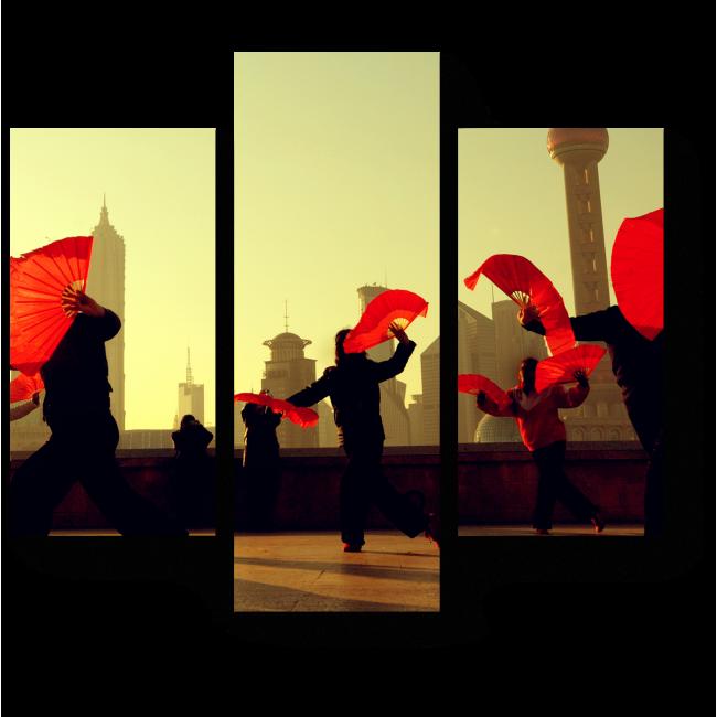 Модульная картина Китайская культура танца