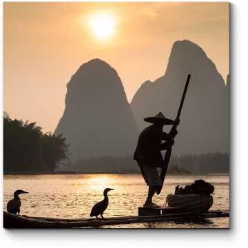 Модульная картина Традиционная рыбалка в Китае