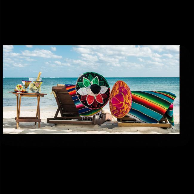 Модульная картина Отдых на побережье Карибского моря