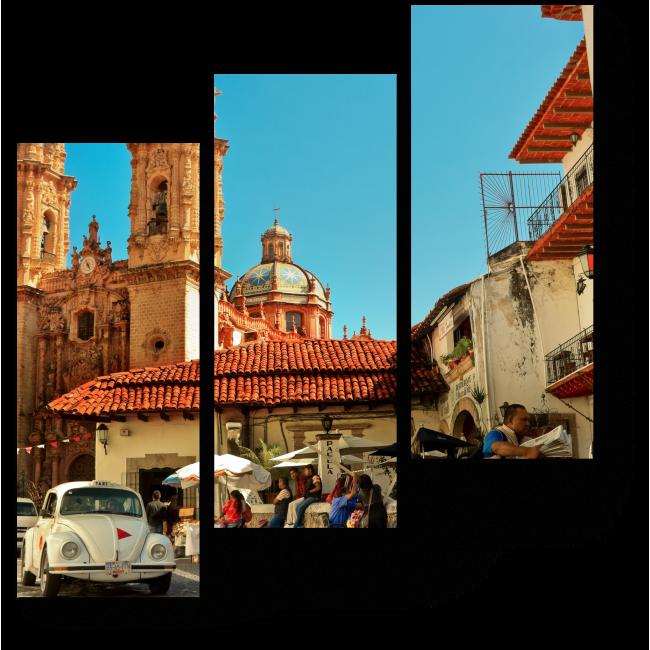 Модульная картина Таско-де-Аларкон днём, Мексика