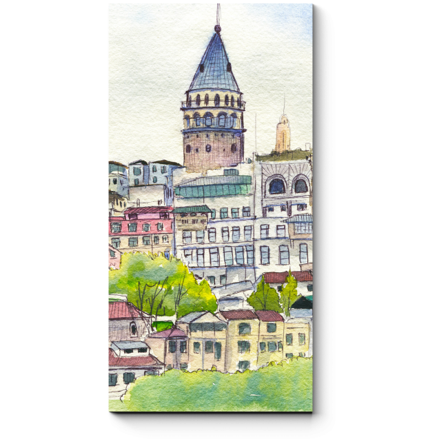 Модульная картина Галатская башня в Стамбуле