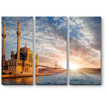 Модульная картина Завораживающий рассвет у мечети. Стамбул.
