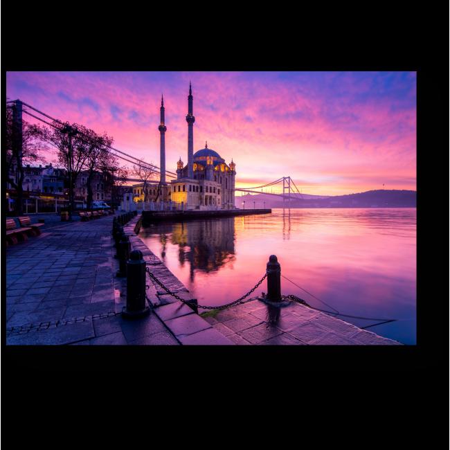 Модульная картина Мечеть Ортакёй при восходе солнца, Стамбул