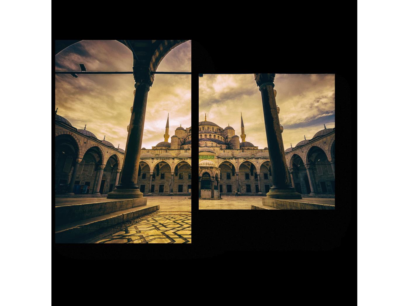 Модульная картина Мечеть в пасмурную погоду (40x30) фото