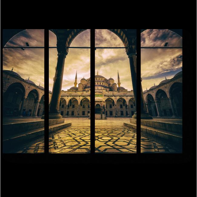 Модульная картина Мечеть в пасмурную погоду