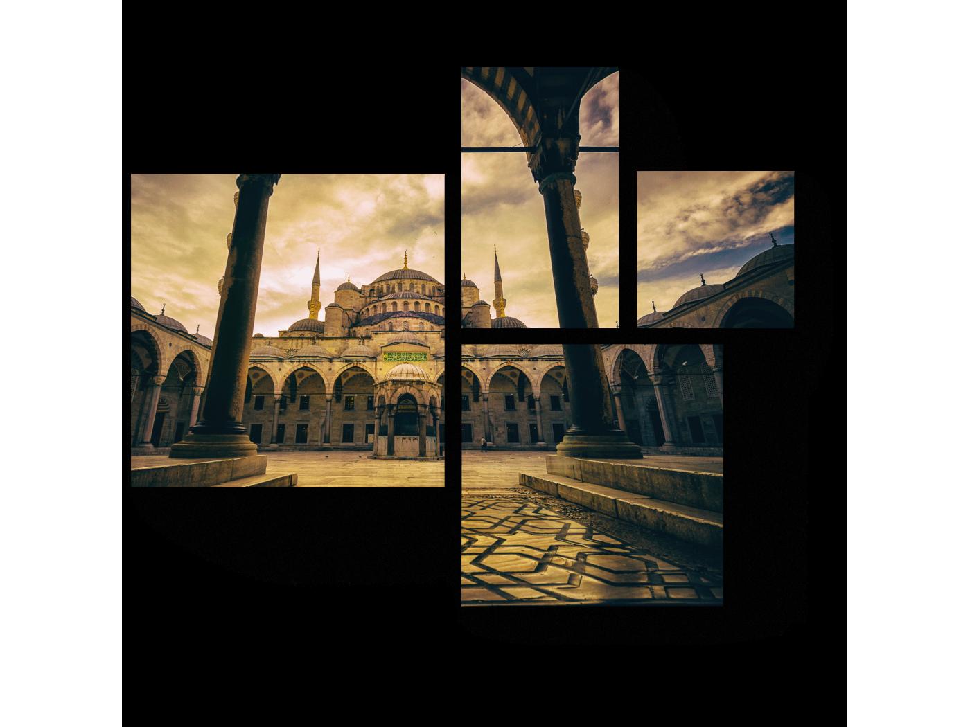 Модульная картина Мечеть в пасмурную погоду (72x60) фото