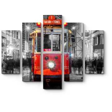 Модульная картина Турецкий трамвайчик, Стамбул