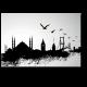 Иллюстрация Стамбула, город небоскребов