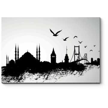 Модульная картина Иллюстрация Стамбула, город небоскребов