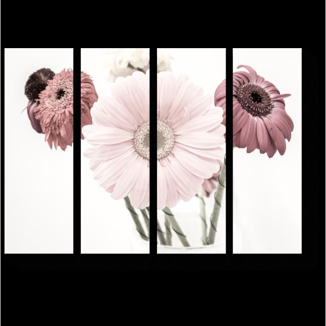 Модульная картина Цветочная нежность, герберы