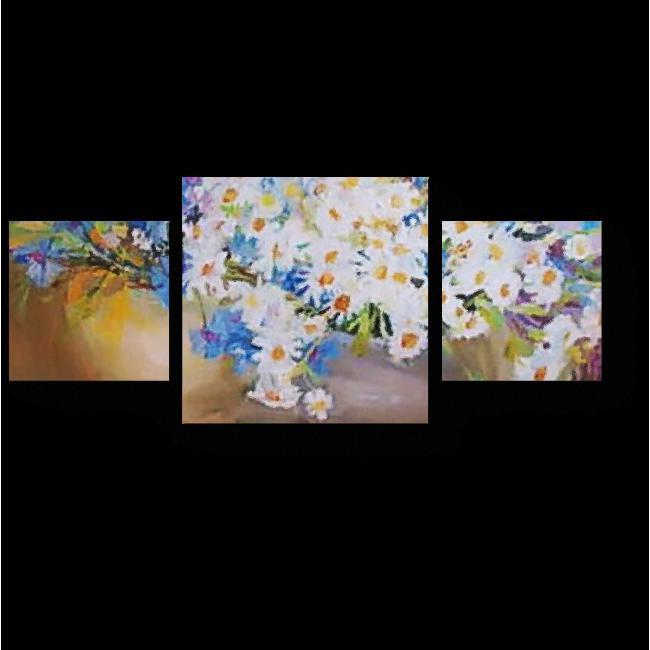 Модульная картина Живописные букеты