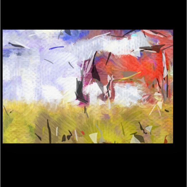 Модульная картина Лошадь в поле
