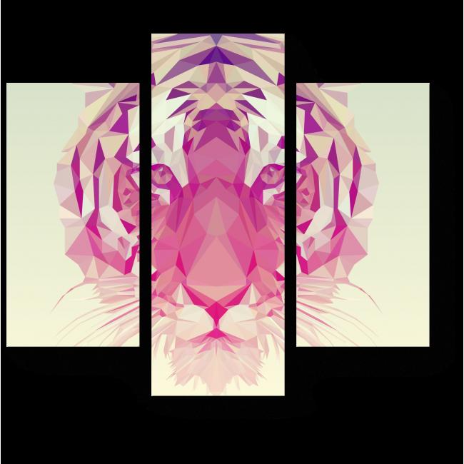 Модульная картина Многогранный тигр