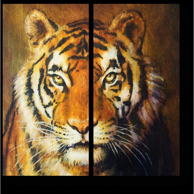 Модульная картина Тигриный настрой