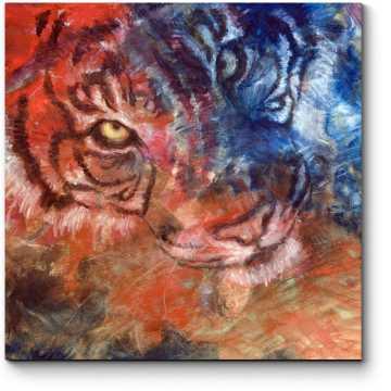 Тигр маслом на холсте