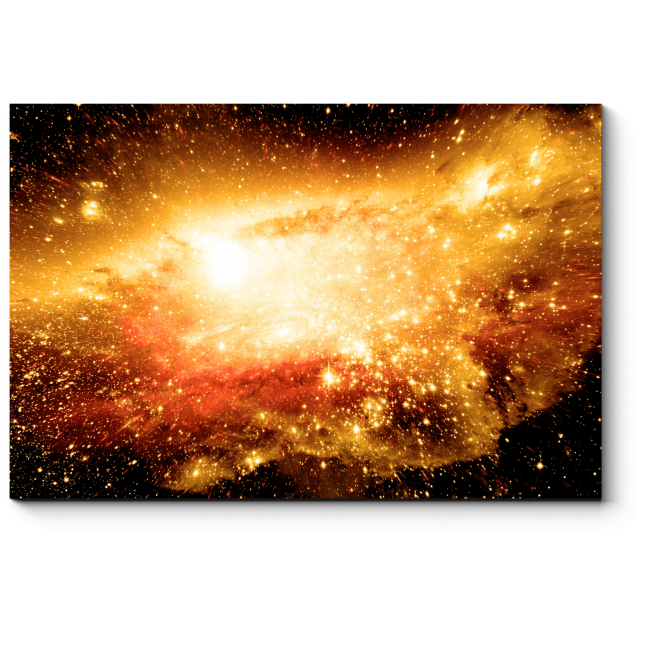 Модульная картина Звезды, планеты и галактики в свободном пространстве