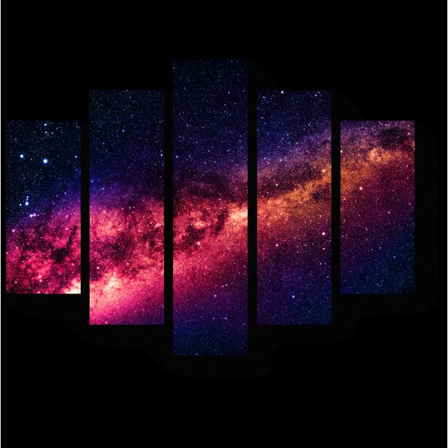 Модульная картина Космическое притяжение