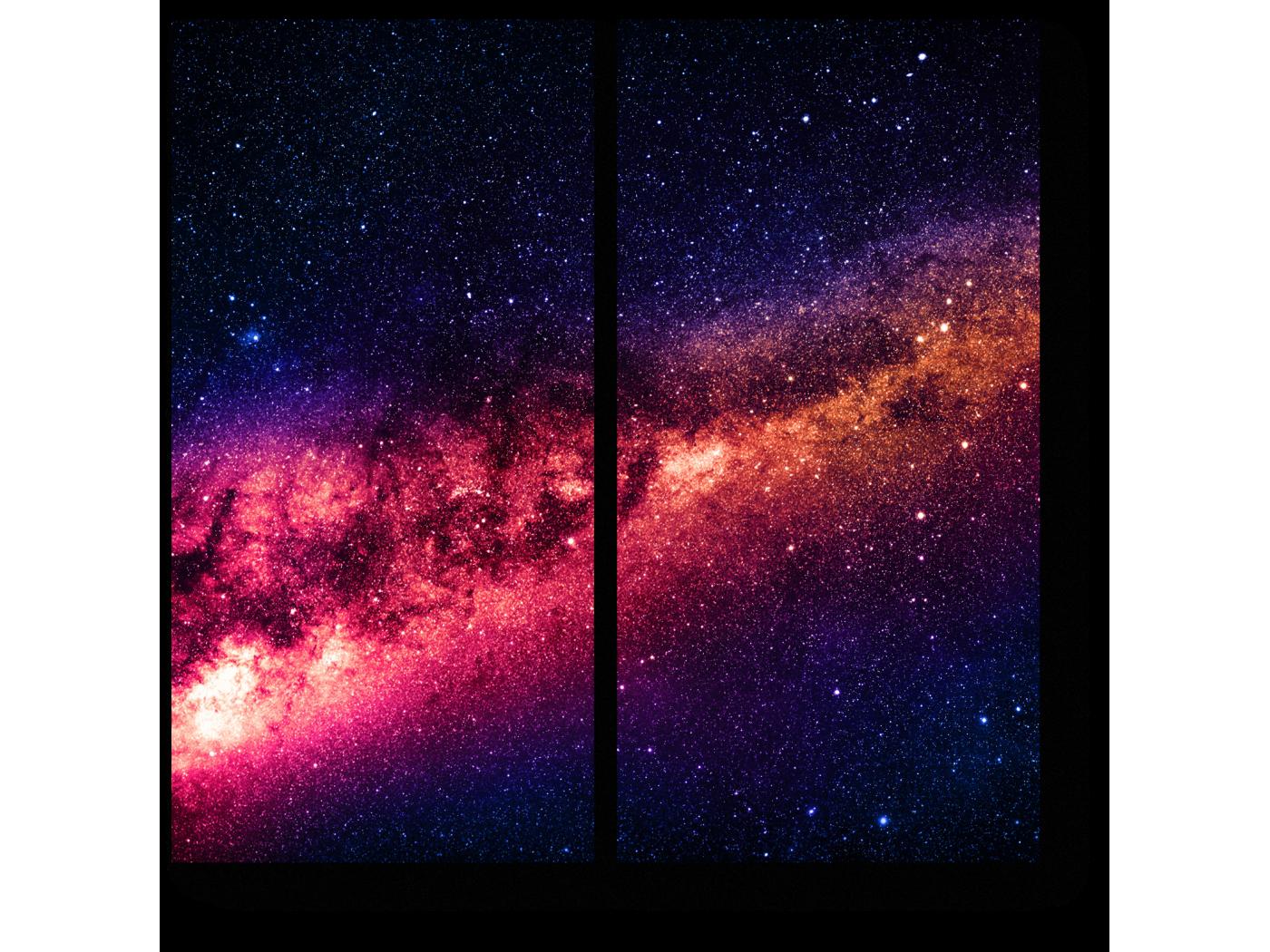 Модульная картина Космическое притяжение (40x40) фото