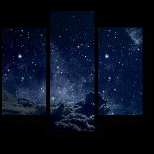 Модульная картина Звездное небо, завораживающая ночь