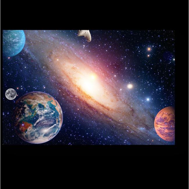 Модульная картина С космической высоты