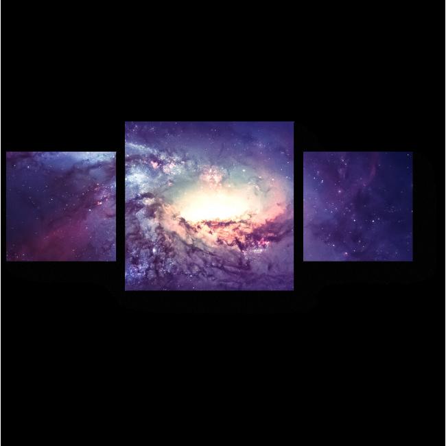 Модульная картина Галактика в космосе