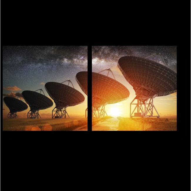 Модульная картина Спутники в закате
