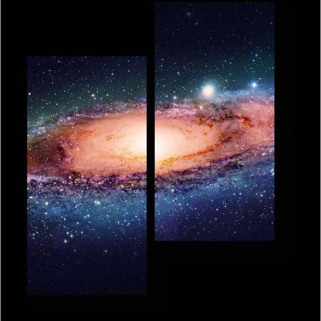 Модульная картина Холодное сияние космоса