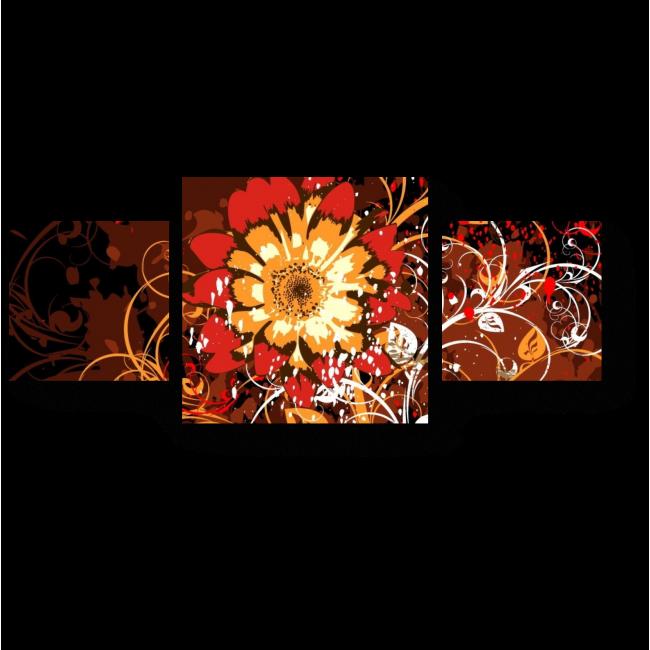 Модульная картина Пламенный цветок