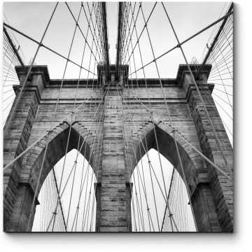 Модульная картина Строгость цвета, Бруклинский мост