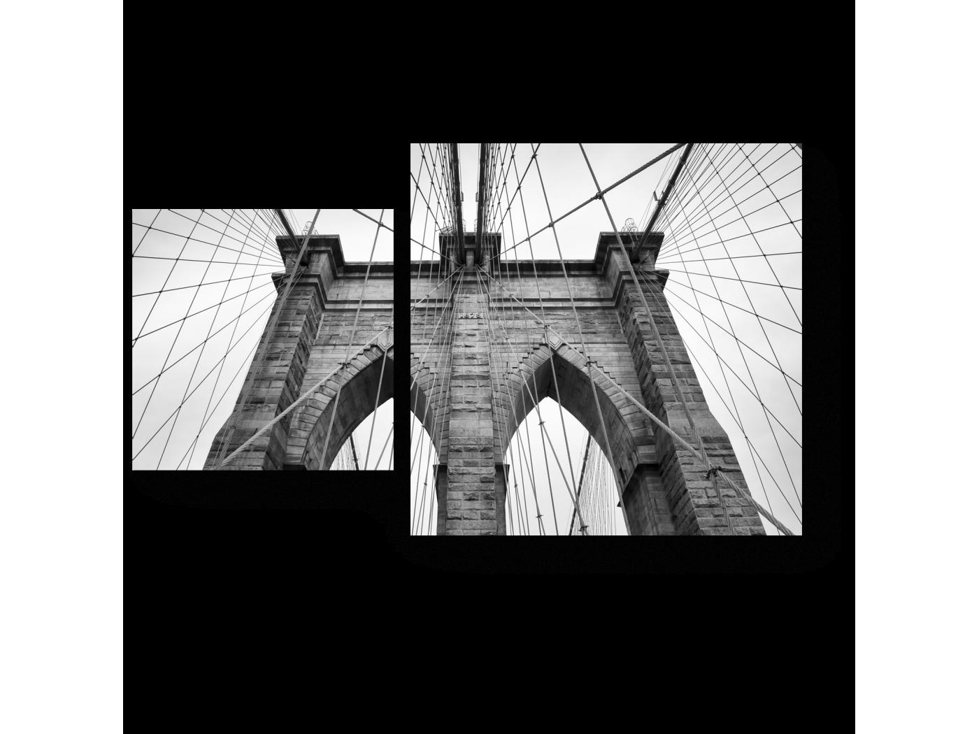 Модульная картина Строгость цвета, Бруклинский мост (50x30) фото