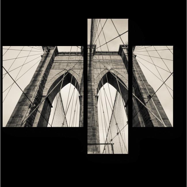Модульная картина Бруклинский мост, винтаж