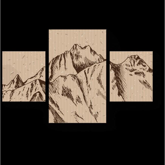 Модульная картина На горной вершине