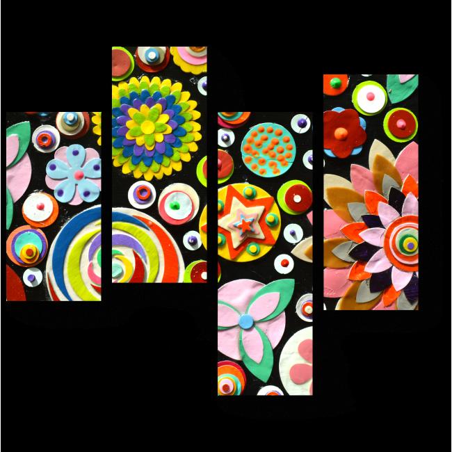 Модульная картина Цветочное вдохновение