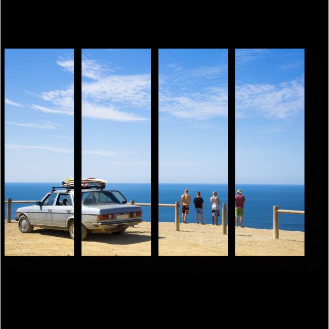 Модульная картина Остановка к морю