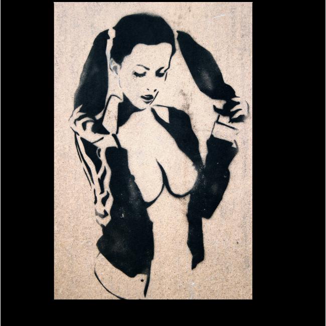 Модульная картина Нескромная девочка