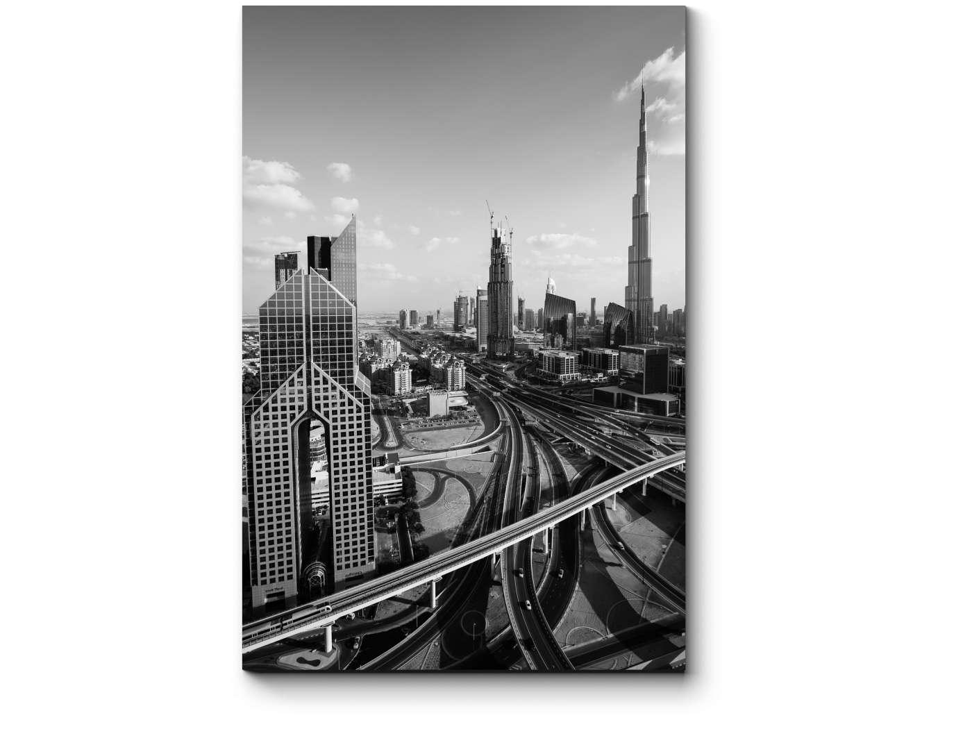 Модульная картина Строгий Даунтаун, Дубай (20x30) фото