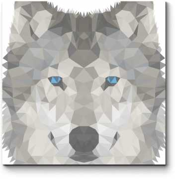 Модульная картина Волчья геометрия